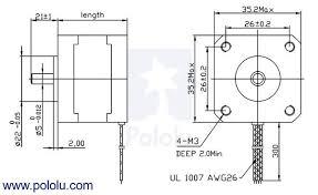 pololu stepper motor bipolar 200 steps rev 35 28mm 10v 0 5