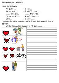 spanish worksheets hobbies by resources4mfl tpt