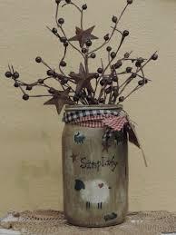primitive christmas mason jars google search crafties