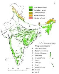 North India Map by Nationwide Classification Of Forest Types Of India Using Remote