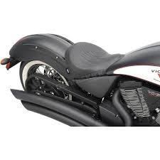 drag specialties black flame stitch low profile solo seat 0810