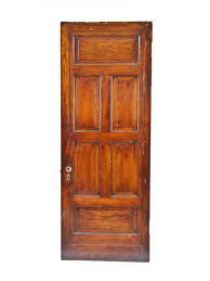 Six Panel Oak Interior Doors Well Built Original C 1880 U0027s American Victorian Era Varnished Oak