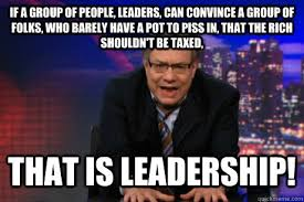 Leadership Meme - if a group of people leaders can convince a group of folks who