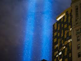 9 11 Memorial Lights 9 11 Tribute Lights Detour Migrating Birds Metropolis Wsj