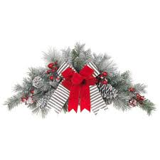 home depot decorations christmas snowy pine christmas decorations holiday decorations the