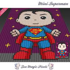 mini superman inspired crochet blanket pattern knitting cross