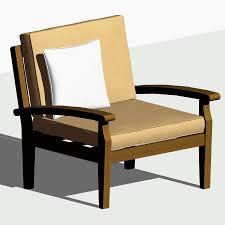 Teak Patio Chairs by Teak Patio Chair 3d Model Formfonts 3d Models U0026 Textures