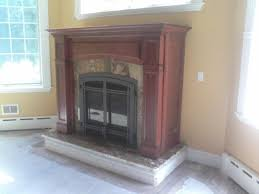 Direct Vent Fireplace Installation by Direct Vent Gas Fireplace In Mantel Cabinet Traditional Living