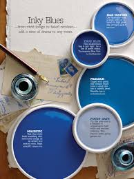 Blue Paint Swatches Better Homes And Gardens Inky Blues Bhg Color Palettes