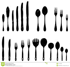 Proper Table Setting by Cutlery Forks Spoons Knives Stock Vector Image 52574698