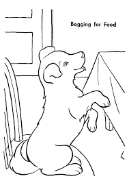 pup begging food sit dining chair coloring animal