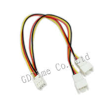chassis fan connector splitter 10pcs lot computer fan power 3pin to 2pin 3pin y cable splitter