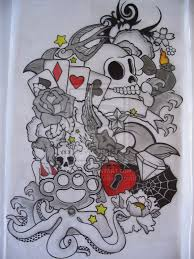 skull half sleeve design photos pictures and sketches