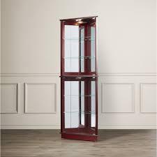 curio cabinet curioabinet with lightabinetsontemporary four