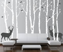 decoration birch tree wall decals home decor ideas