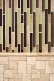 Kitchen Travertine Backsplash Aspen Interlocking Glass And Ivory Travertine Backsplash Tile By