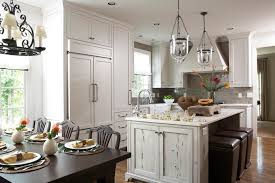farmhouse island kitchen kitchen island sink kitchen rustic with barstool chandelier