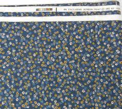 vtg atelier originals cotton home decor fabric 2 5 yds x 54 floral