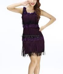 Gatsby Halloween Costume Aliexpress Buy Scoop Strapless Beaded Fringe Gatsby Flapper