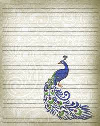 printable journal writing paper printable journal page peacock bird writing stationery 8 x zoom