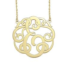 initial monogram necklace single initial monogram necklace initial obsession
