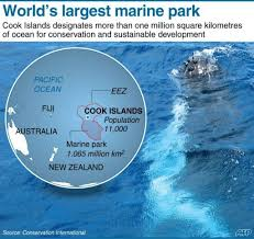 where is cook islands located on the world map cook islands declares world s largest marine park