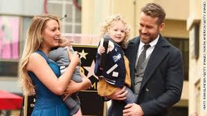 ryan reynolds u0027 daughters make public debut cnn video