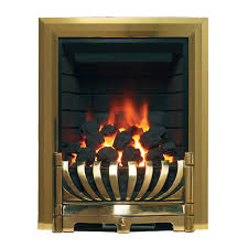 brass gas fire be modern avantgarde brass inset gas fire