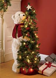 Tall Standing Christmas Decorations by Christmas Decorations Holiday Bear In Tree Orvis
