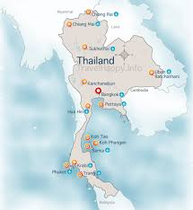map of thailand thailand map