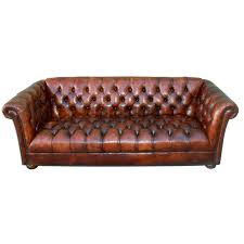 New Leather Sofas Vintage Leather Tufted Chesterfield Style Sofa C 1930 S