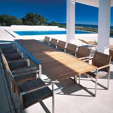 large outdoor dining table long patio table luxury royal botania ninix teak extension outdoor