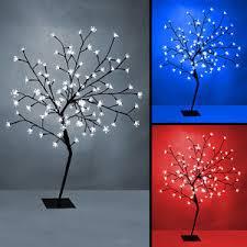 large 100cm pre lit indoor led tree 96 lights white blue