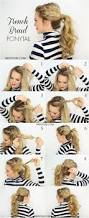 15 adorable french braid ponytails for long hair popular haircuts
