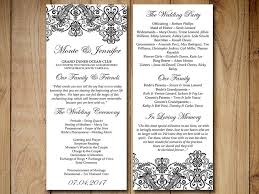 vintage wedding programs vintage wedding program template lace by paintthedaydesigns