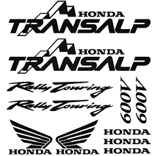 logo honda honda transalp 600v graphic kit decal sticker