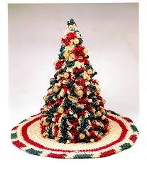 victorian christmas tree and skirt folk art rustic home decor