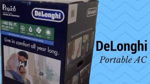 Comfort Temp Delonghi Delonghi An125hpekc Portable Room Air Conditioner Unboxing And