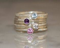 birthstone stackable rings for stacking rings mothers ring with initial and birthstone