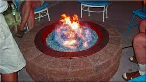 Propane Fire Pits With Glass Rocks by A Rich Brilliant Blue Fireplace Glass Ford Blue Reflective