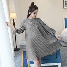 stylish maternity clothes 8888 2017 summer autumn fashion maternity dress pleated