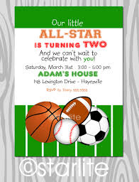 Halloween Birthday Party Invitations Templates by Birthday Invites Charming Sports Themed Birthday Invitations