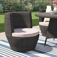 Patio Dining Chairs With Cushions Brayden Studio Martinez Patio Dining Chair With Cushion Reviews