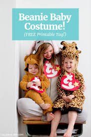 Family Halloween Costume With Baby by Laughing Latte Beanie Baby Costume Free Printable Beanie Baby