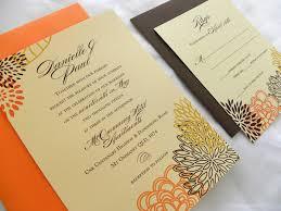 cheap fall wedding invitations orange fall wedding invitations bitsy
