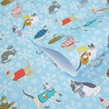 cat christmas wrapping paper christmas cats wrapping paper kilvertmary kilvert
