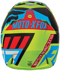 fox helmets motocross fox v3 divizion helmets motocross blue yellow fox spiral pullover