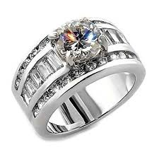 ss wedding ring 5 2ct on cz 3 in 1 stacked wedding