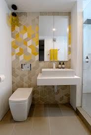 Small Washroom Design Rectangular Metal Chrome Frame Glass Mirror