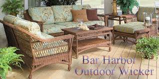 Patio Furniture Bar Bar Harbor Outdoor Wicker American Country